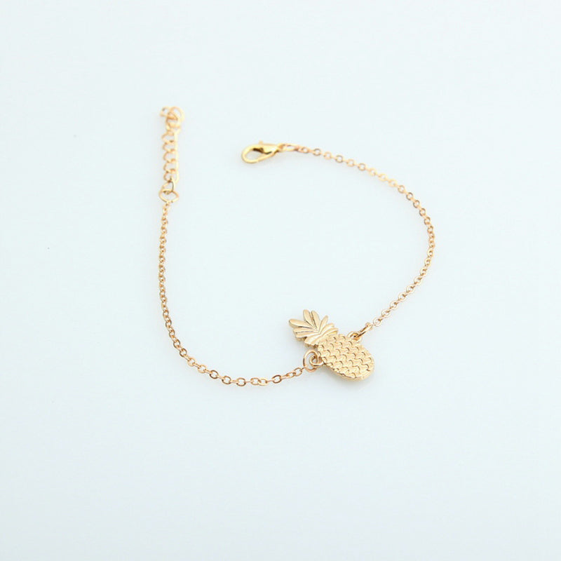 Pineapple Charm Ankle Bracelet