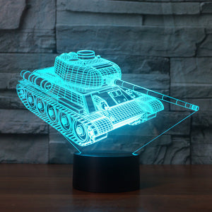7 Color 3D Tank Lamp