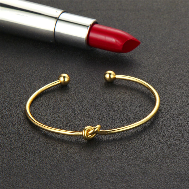Gold Knot Arrow Bracelets