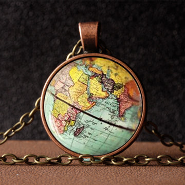 Vintage Globe Necklace