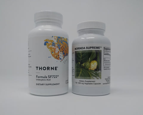 Formula SF722 by Thorne and Morinda Supreme by Supreme Nutrition