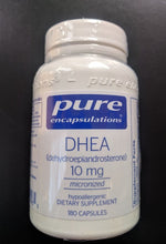 DHEA 10mg by Pure Encapsulations. 180 Cap. Micronized Dehydroepiandrosterone