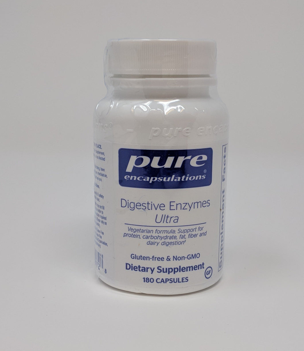 Digestive Enzymes Ultra by Pure Encapsulations 180 Caps. Vegetarian Formula