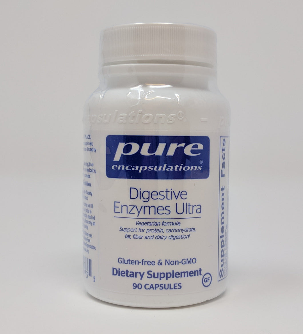 Digestive Enzymes Ultra by Pure Encapsulations 90 Caps. Vegetarian Formula