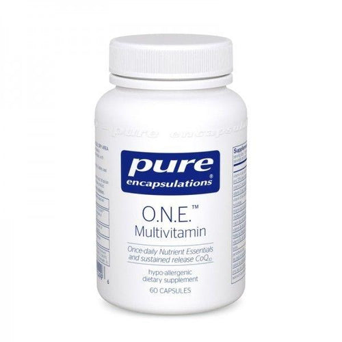 O.N.E. (ONE) Multivitamin by Pure Encapsulations 60 Cap. Multi w/CoQ10 L-5-MTHF