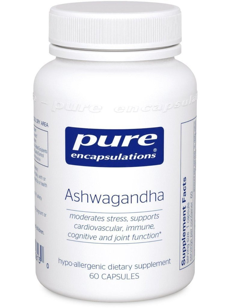 Ashwagandha 60s by Pure Helps Cardiovascular, Immune, Joint, & Stress