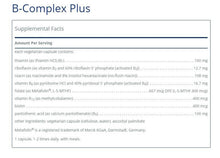 B-Complex Plus by Pure Encapsulations. 120 Caps. Comprehensive Activated Forms.