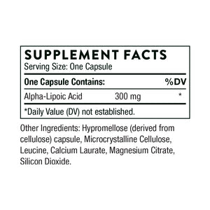 Alpha-Lipoic Acid by Thorne Supplement Facts
