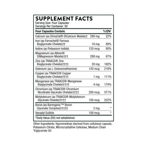 Biomins by Thorne Supplement Facts