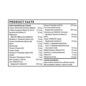 Canine Basic Nutrients by Thorne Product Facts