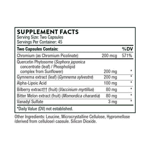 Diabenil by Thorne Supplement Facts