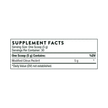 Fractionated Pectin Powder by Thorne Supplement Facts