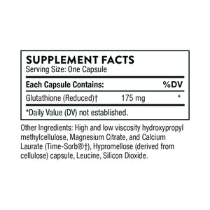 Glutathione-SR by Thorne Supplement Facts