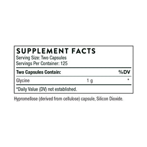 Glycine by Thorne Supplement Facts