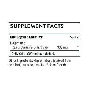 L-Carnitine by Thorne Supplement Facts