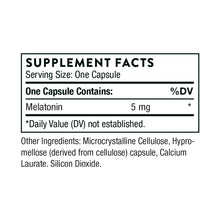 Melatonin-5 by Thorne Supplement Facts