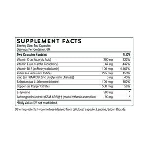 Thyrocsin by Thorne Supplement Facts
