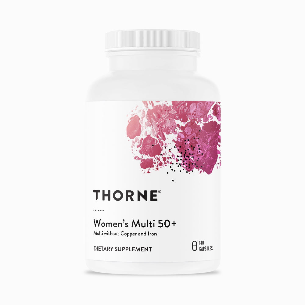 Women's Multi 50+ By Thorne. 180 caps. Multivitamin for Women Over 50.