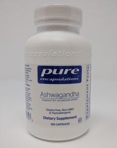Ashwagandha 120's by Pure Encapsulations-Helps Cardiovascular, Immune, Joint, & Stress