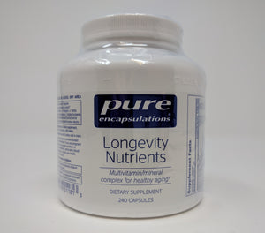 Longevity Nutrients by Pure Encapsulations 240 Cap. Multi For Those Over 60