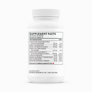 NSF Basic Nutrients 2/day by Thorne Research. Multivitamin 60 Caps. 1 Month Supply.