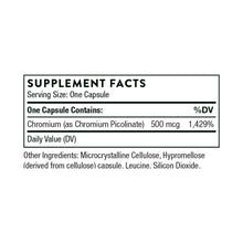 Chromium Picolinate by Thorne Research. 60 Caps. Helps Decrease Sugar Cravings