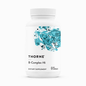 B-Complex #6 by Thorne Research. Active B Complex Containing Extra B6. 60 Caps.