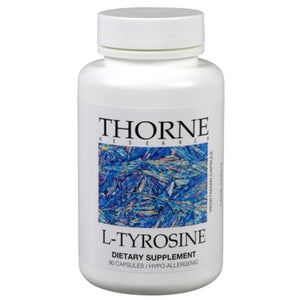 L-Tyrosine by Thorne Research 90 Veg Caps. 500mg