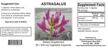 Astragalus by Supreme Nutrition. Antimicrobial/Immune/Fatigue/Cardio 90 caps