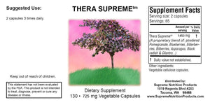 Thera Supreme by Supreme Nutrition Antioxidant blend. Helps Immune, Inflammation