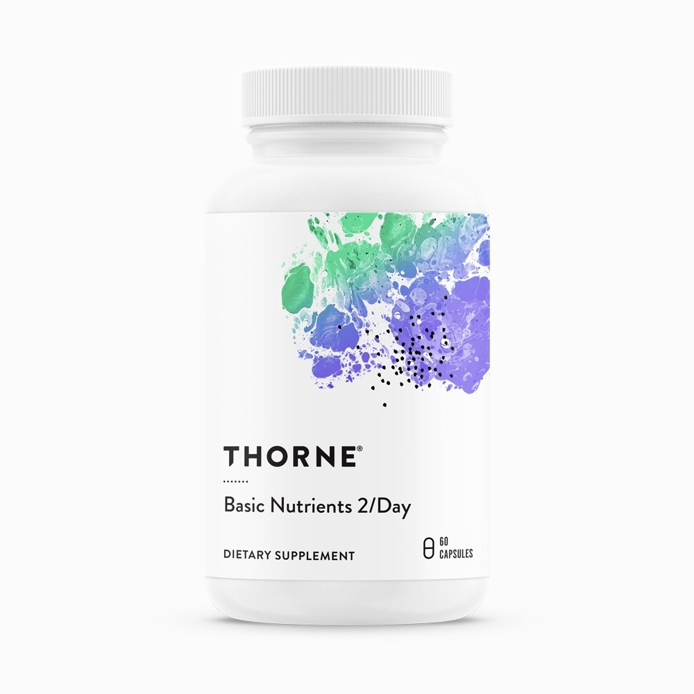 Basic Nutrients 2/day by Thorne Research. Multivitamin 60 Caps. 1 Month Supply. Not NSF