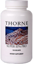 Super EPA Pro by Thorne Research. Concentrated EPA Fish Oil 120 Gelcaps