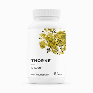 D-1,000 Vitamin D3 by Thorne Research. 90 caps. Low Dose.