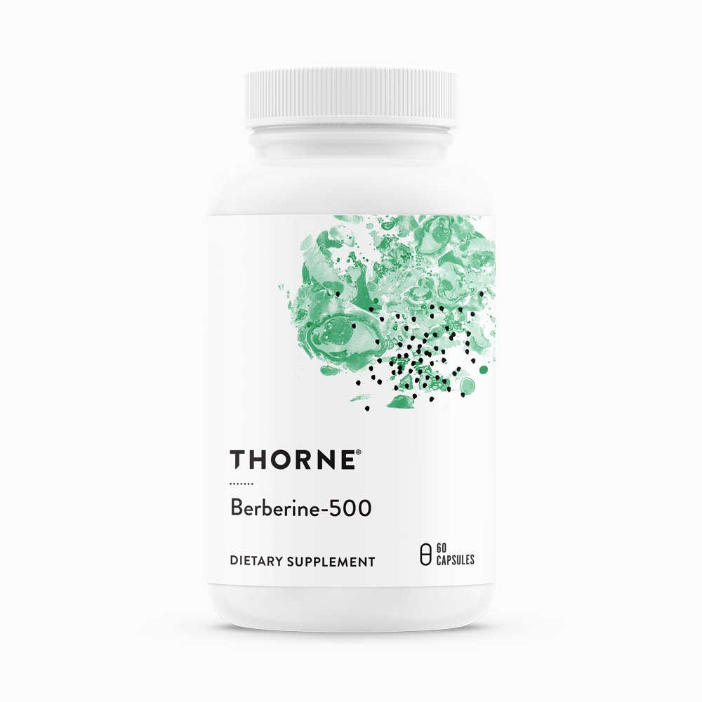 Berberine-500 by Thorne Research. 60 Veggie Capsules.