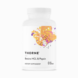 Betaine HCL & Pepsin by Thorne. 450 Veggie Caps. Helps Occasional Indigestion