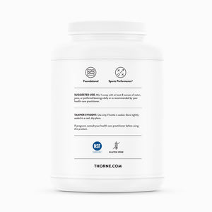 Whey Protein Isolate - Chocolate by Thorne Side Label
