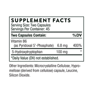 5-Hydroxytryptophan by Thorne Research. 90 Caps. 5-HTP Increases Serotonin.