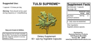 Tulsi Supreme by Supreme Nutrion. Holy Basil. Helps Adrenal, Inflammation, Liver