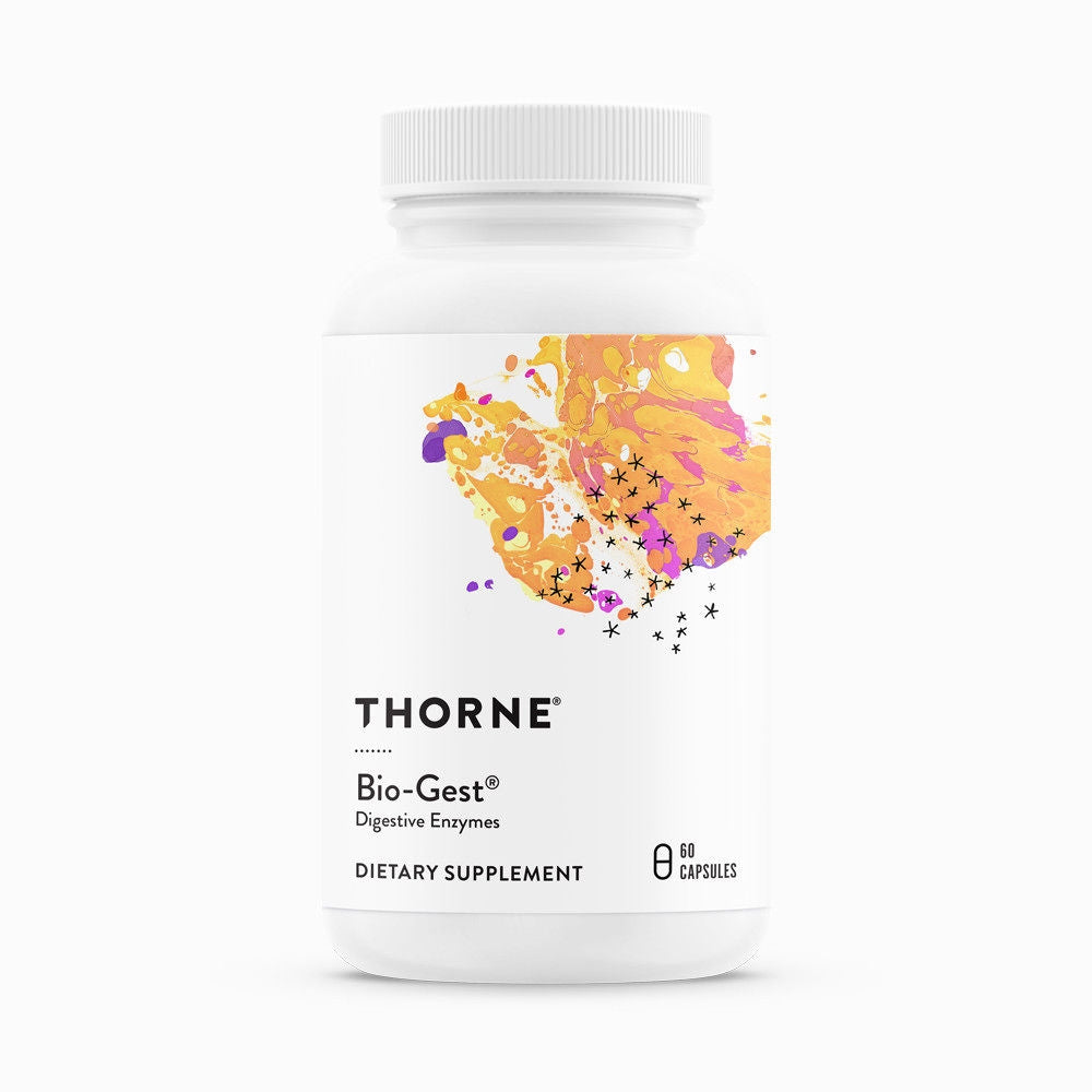 Bio-Gest 60's by Thorne Research. Digestive Enzyme Blend. Biogest. Small Bottle