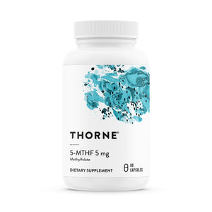 5-MTHF by Thorne. 60 veg cap. Fully Active Folate 5mg.