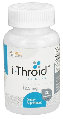 i-Throid (iThroid) by RLC Labs - 12.5 mg - 90 Capsules Compare to Iodoral Iodine