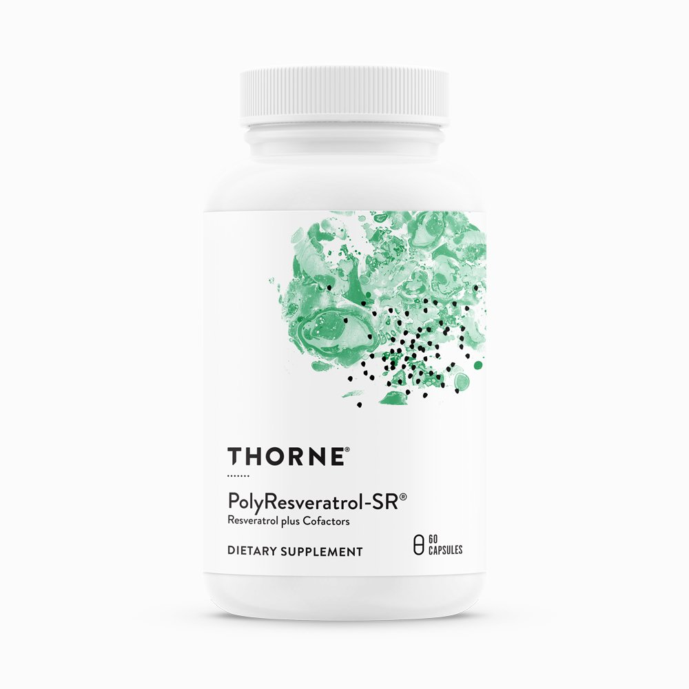 PolyResveratrol-SR By Thorne. 60 Caps. Heart & Liver Support. Resveratrol Combo