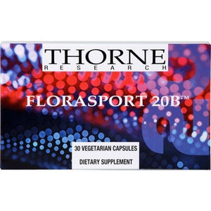 Florasport 20B Probiotic by Thorne Research. 30 Veggie Caps.