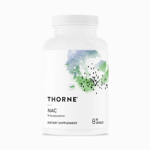 NAC by Thorne. (N-Acetylcysteine). Formerly Cysteplus. 90 Caps. 500mg.