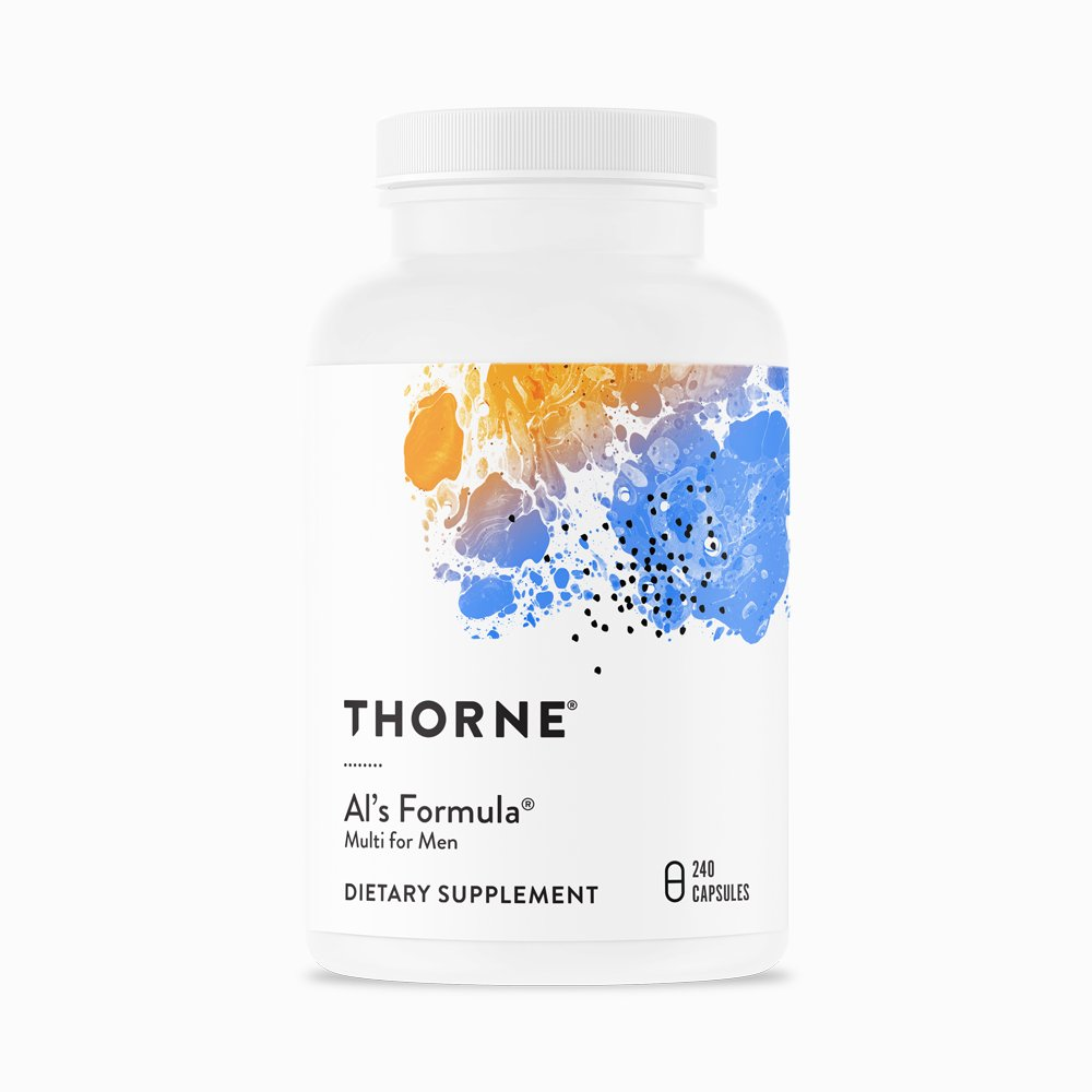 Al's Formula Basic Nutrients for Men over 40 by Thorne. 240 Caps. Multivitamin