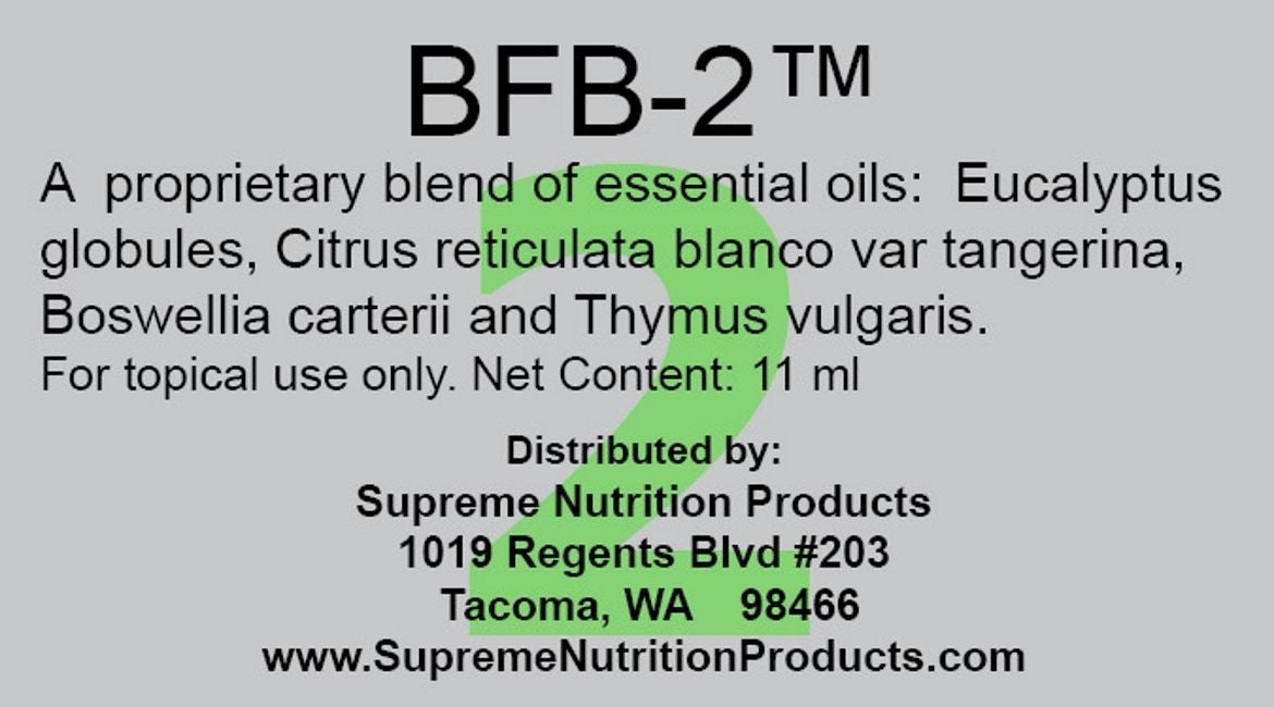 BFB-2 by Supreme Nutritions: Essential Oil Blend That Dissolves Biofilms