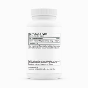 Methylcobalamin Vitamin B12 by Thorne Research. Activated B12