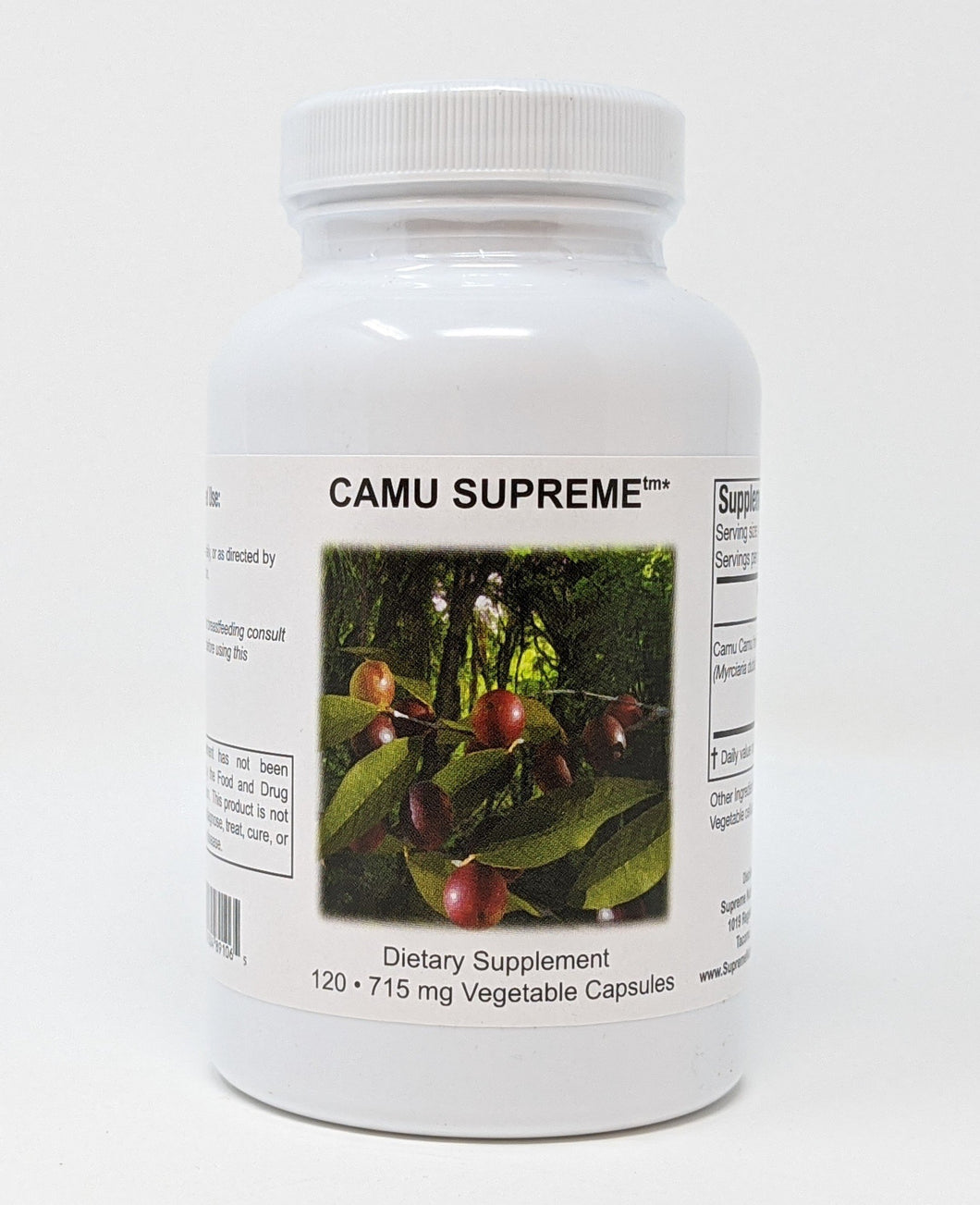 Camu Supreme by Supreme Nutrition 120 Caps. Inflammation, Immune, Detox, Allergies