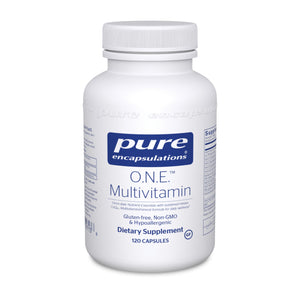 O.N.E. (ONE) Multivitamin by Pure Encapsulations 120 Cap. Multi w/CoQ10 L-5-MTHF