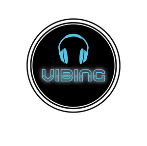 Vibing logo with headphones